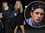 West Hollywood, CA - Kourtney Kardashian joins Kendall Jenner and family friend Hailey Baldwin for a fun night out in West Hollywood. The mother-of-three showed off her figure in a black blazer over a sheer black top and matching black trousers; while her half-sis Kendall wore a long sleeved grey crop top with black trousers and snakeskin heels. \nAKM-GSI          January 11, 2016\nTo License These Photos, Please Contact :\nSteve Ginsburg\n(310) 505-8447\n(323) 423-9397\nsteve@akmgsi.com\nsales@akmgsi.com\nor\nMaria Buda\n(917) 242-1505\nmbuda@akmgsi.com\nginsburgspalyinc@gmail.com