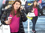 PREGNANT WAG COLEEN ROONEY DOES SOME LAST MINUTE SHOPPING IN WILMSLOW CHESHIRE BEFORE THE BIRTH OF HER THIRD CHILD\n\n\n*******EXCLUSIVE PICTURES*********