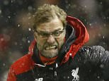 "Football Soccer - Liverpool v Arsenal - Barclays Premier League - Anfield - 13/1/16  Liverpool manager Juergen Klopp celebrates after Joe Allen (not pictured) scores their third goal  Action Images via Reuters / Carl Recine  Livepic  EDITORIAL USE ONLY. No use with unauthorized audio, video, data, fixture lists, club/league logos or ""live"" services. Online in-match use limited to 45 images, no video emulation. No use in betting, games or single club/league/player publications.  Please contact your account representative for further details."