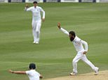 Moeen Ali of England celebrates getting Dean Elgar of South Africa wicket during day one of the Third Sunfoil Test Match between South Africa and England played at Wanderers Stadium, Johannesburg, South Africa on January 14th 2016