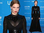 6th Annual UNICEF Ball at the Beverly Wilshire Hotel, Beverly Hills - Arrivals Featuring: L»a Seydoux Where: Beverly Hills, California, United States When: 12 Jan 2016 Credit: FayesVision/WENN.com