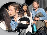 EXCLUSIVE: ** PREMIUM EXCLUSIVE RATES APPLY** Zoe Saldana and husband were getting lunch in Beverly Hills, CA. Zoe and Marco can be seen kissing before getting into their cars.  \n\nPictured: Marco Perego, Zoe Saldana\nRef: SPL1208622  130116   EXCLUSIVE\nPicture by: Splash News\n\nSplash News and Pictures\nLos Angeles: 310-821-2666\nNew York: 212-619-2666\nLondon: 870-934-2666\nphotodesk@splashnews.com\n
