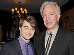 Mandatory Credit: Photo by Startraks Photo/REX/Shutterstock (1498802a).. Daniel Radcliffe and Alan Rickman.. Special Luncheon in Honor of Harry Potter and the Deathly Hallows Part 2, New York, America - 21 Nov 2011.. ..
