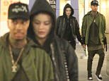 *EXCLUSIVE* **SHOT ON 1/11/16** Hollywood, CA - Kylie Jenner and her boyfriend Tyga are going strong as they leave a movie date night at ArcLight Cinemas in Hollywood. The camera shy reality star dressed down in a black leather jacket over a hooded black onesie jumpsuit.\nAKM-GSI          January 13, 2016\nTo License These Photos, Please Contact :\nSteve Ginsburg\n(310) 505-8447\n(323) 423-9397\nsteve@akmgsi.com\nsales@akmgsi.com\nor\nMaria Buda\n(917) 242-1505\nmbuda@akmgsi.com\nginsburgspalyinc@gmail.com