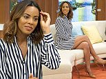 EDITORIAL USE ONLY. NO MERCHANDISING  Mandatory Credit: Photo by Ken McKay/ITV/REX/Shutterstock (5540791ae)  Rochelle Humes  'Good Morning Britain' TV Show, London, Britain - 14 Jan 2016