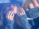 51946285 Model and actress Rosie Huntington-Whiteley shows off her new engagement ring while out and about in Los Angeles, California on January 12, 2016. It is being reported that Jason Statham proposed to his longtime girlfriend with a gorgeous 5-carat Neil Lane¿designed ring which cost $350,000! FameFlynet, Inc - Beverly Hills, CA, USA - +1 (310) 505-9876