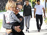 14.JANUARY.2016 - SANTA MONICA ñ USA\n*** STRICTLY AVAILABLE FOR UK AND GERMANY USE ONLY ***\nALESSANDRA AMBROSIO TAKES A STROLL WITH FIANCE JAMIE MAZUR AND SON NOAH. ALESSANDRA LOOKS SUPER CASUAL IN GREY SWEATS, DARK HOODIE, AND NIKE SNEAKERS.\nBYLINE MUST READ : AKM-GSI-XPOSURE\n***UK CLIENTS - PICTURES CONTAINING CHILDREN PLEASE PIXELATE FACE PRIOR TO PUBLICATION ***\n*UK CLIENTS MUST CALL PRIOR TO TV OR ONLINE USAGE PLEASE TELEPHONE 0208 344 2007*