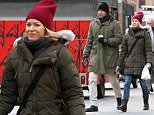 Picture Shows: Liev Schreiber Naomi Watts  January 14, 2016.. .. A bundled-up Naomi Watts and Leiv Schreiber brave the frigid New York temperatures as they go for an early walk in the Tribeca Neighborhood in New York City, New York... .. Non-Exclusive.. UK RIGHTS ONLY.. .. Pictures by : FameFlynet UK © 2016.. Tel : +44 (0)20 3551 5049.. Email : info@fameflynet.uk.com