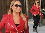 Mariah Carey wearing a bright red jacket and sky high heels, goes shopping at Van Cleef & Arpels on Rodeo Drive Featuring: Mariah Carey Where: Los Angeles, California, United States When: 13 Jan 2016 Credit: WENN.com