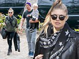 Fergie and Josh Duhamel step out in Brentwood to take super cute son Axl to lunch. January 14, 2016  X17online.com
