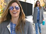 *** Fee of £100 applies for subscription clients to use images before 22.00 on 150116 *** EXCLUSIVE ALLROUNDERJessica Biel arrives at her new business Au Fudge in West Hollywood. She seems in very good spirits and eager to get to work Featuring: Jessica Biel Where: Los Angeles, California, United States When: 14 Jan 2016 Credit: Owen Beiny/WENN.com