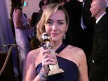 Kate Winslet with her Golden Globe Picture from Baz Bamigboye.