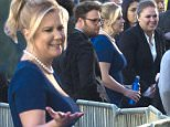 Exclusive... 51945940 Stars Ronda Rousey, Amy Schumer and Seth Rogen are seen filming a Budlight commercial in Los Angeles, California on January 12, 2016. Between takes Ronda had a little fun showing off her skills tossing a water bottle. FameFlynet, Inc - Beverly Hills, CA, USA - +1 (310) 505-9876