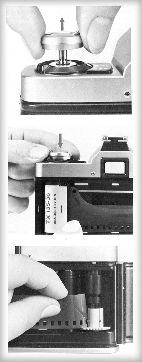 Typical 35mm film-loading instructions