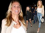 Heidi Klum and her children enjoy a family meal at Matsuhisa in Beverly Hills.  The towering supermodel went casual and makeup free, on Friday, January 15, 2016  X17online.com