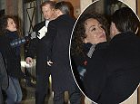 Leonardo DiCaprio is seen at dinner in a restaurant in Rome. Whilst out, a fan gave him a letter and he gave her a kiss.  Pictured: Leonardo Dicaprio Ref: SPL1196116  150116   Picture by: Agostino Fabio / Splash News  Splash News and Pictures Los Angeles: 310-821-2666 New York: 212-619-2666 London: 870-934-2666 photodesk@splashnews.com