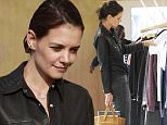 Katie Holmes shopping at A.P.C. Clothing Store in Los Angeles, CA.\n\nPictured: Katie Holmes\nRef: SPL1209802  150116  \nPicture by: Bruja / Splash News\n\nSplash News and Pictures\nLos Angeles: 310-821-2666\nNew York: 212-619-2666\nLondon: 870-934-2666\nphotodesk@splashnews.com\n