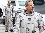 146879, EXCLUSIVE: Jeff Goldblum, Judd Hirsch, Garrett Wareing, and Joey King spotted on the set of 'Independence Day: Resurgence', filming in LA. Jeff could be seen donning his astronaut suit sans helmet as he walked around base camp. Los Angeles, California - Friday, January 15, 2016. Photograph: Miguel Aguilar, © PacificCoastNews. Los Angeles Office: +1 310.822.0419 sales@pacificcoastnews.com FEE MUST BE AGREED PRIOR TO USAGE