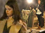 Please contact X17 before any use of these exclusive photos - x17@x17agency.com   Selena Gomez wears a little black dress and high black heels for a dinner date at Saddle Peak Lodge in Malibu Canyon. She arrives and leaves with a tall mystery man who wears a big smile on his face around her. Friday, January 15, 2016 X17online.com PREMIUM EXCLUSIVE