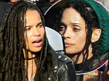 EXCLUSIVE TO INF.\nJanuary 15, 2016: Lisa Bonet spotted with her two daughters Zoe Kravitz and Lola Iolani Momoa outside of novelty store Treasure Island in Santa Monica, CA.  Zoe is spotted tickling her little sister cheering her up as the little one nurses an injured arm.   \nMandatory Credit: Borisio/SAA/INFphoto.com Ref: infusla-277/302