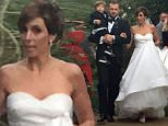 EXCLUSIVE: ** PREMIUM EXCLUSIVE RATES APPLY** Jamie-Lynn Sigler marries Cutter Dykstra at the Parker Hotel in Palm Springs, California on January 16th. The couples two year old son Beau walked down the aisle in a miniature tuxedo \n\nPictured: Jamie-Lynn Sigler, Cutter Dykstra \nRef: SPL1209092  180116   EXCLUSIVE\nPicture by: Splash News\n\nSplash News and Pictures\nLos Angeles: 310-821-2666\nNew York: 212-619-2666\nLondon: 870-934-2666\nphotodesk@splashnews.com\n