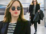 NEW YORK, NY - JANUARY 16:  (EXCLUSIVE COVERAGE) Actress Dakota Johnson is seen on January 16, 2016 in New York City.  (Photo by XPX/Star Max/GC Images)