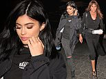Caitlyn Jenner leaving sushi dinner with daughter Kylie, wearing a Jennifer Meyer nameplate necklace that can cost over 1,200. She's dressed in sleek black and took the leftover  food to go. X17online.com \\nNO WEB SITE USAGE\\nMAGAZINES NORMAL FEES\\nAny queries call X17 UK Office 0034 966 713 949\\nGary 0034 686421720\\nLynne 0034 611100011 \\nAlasdair 0034 965998830