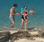 Collect Picture Chelsea Clinton and her Husband Marc Mezvinsky with their daughter Charlotte  on The Beach at The Amanyara resort in the  Turks & Caicos Islands EXCLUSIVE EXCLUSIVE EXCLUSIVE