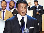 """Actor Sylvester Stallone accepts the award for Best Supporting Actor for """"Creed"""" during the 21st Annual Critics' Choice Awards in Santa Monica, California January 17, 2016.  REUTERS/Mario Anzuoni"""