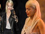 EXCLUSIVE: Rita Ora looking worse for wear as she is seen stumbling out of On The Rox nightclub with bff Vas Morgan in Hollywood.  Pictured: Rita Ora Ref: SPL1210604  170116   EXCLUSIVE Picture by: Splash News  Splash News and Pictures Los Angeles: 310-821-2666 New York: 212-619-2666 London: 870-934-2666 photodesk@splashnews.com