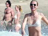 Exclusive... 51948191 Actress Gwyneth Paltrow enjoys lunch on the beach in Mexico with her producer boyfriend Brad Falchuk on January 14, 2016. Paltrow has been linked to the 'American Horror Story' co-creator for more than a year, but has flown under the radar with their relationship. FameFlynet, Inc - Beverly Hills, CA, USA - +1 (310) 505-9876