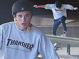 Picture Shows: Brooklyn Beckham  January 15, 2016    * Min Paper Fee £250 For Set *    * Min Web / Online fee £200 For Set *    Brooklyn Beckham pictured showing off his skills skateboarding at a skatepark in London, England.    * Min Paper Fee £250 For Set *    * Min Web / Online fee £200 For Set *    Exclusive All Rounder  WORLDWIDE RIGHTS    Pictures by : FameFlynet UK © 2016  Tel : +44 (0)20 3551 5049  Email : info@fameflynet.uk.com