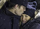 EXCLUSIVE: **PREMIUM EXCLUSIVE RATES APPLY** An affectionate Gisele Bundchen and Tom Brady brave the nighttime snowfall to watch their son Benny play hockey at a.n outdoor rink near Boston. ED NOTE. Tom Brady chose not to watch the Denver vs Pittsburgh American football game, a game that would decide who his New England Patriots team plays  next week, instead watching his son's hockey practice.  Pictured: Gisele Bundchen, Tom Brady Ref: SPL1205525  180116   EXCLUSIVE Picture by: James Haynes/ Splash News  Splash News and Pictures Los Angeles: 310-821-2666 New York: 212-619-2666 London: 870-934-2666 photodesk@splashnews.com