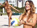 MIAMI BEACH, FL - JANUARY 17:  Kelly Bensimon is sighted on Miami Beach as she flaunts her bikini body while playing volleyball on January 17, 2016 in Miami, Florida.  (Photo by Carlos Marino/GC Images)