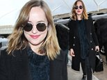 Los Angeles, CA - Dakota Johnson departs out of LAX snuggled up in a fuzzy turtle neck sweater and coat ready to get back to the chilly New York weather. \n  \nAKM-GSI    January 18, 2016\nTo License These Photos, Please Contact :\nSteve Ginsburg\n(310) 505-8447\n(323) 423-9397\nsteve@akmgsi.com\nsales@akmgsi.com\nor\nMaria Buda\n(917) 242-1505\nmbuda@akmgsi.com\nginsburgspalyinc@gmail.com