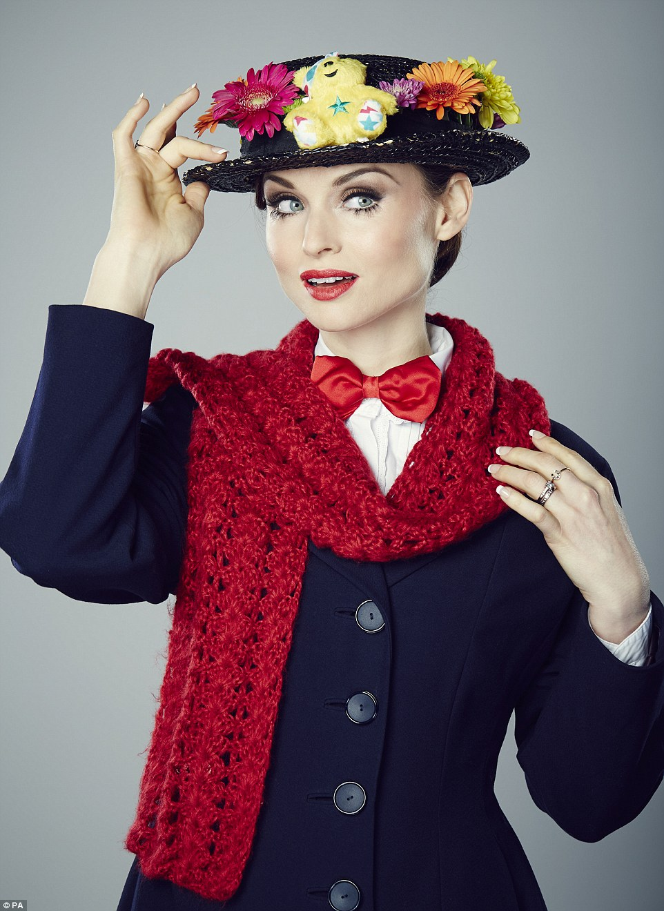 Supercalifrigalisticexpialidocious! Sophie Ellis Bextor could have passed for Julie Andrews as the wonderful nanny Mary Poppins in her costume