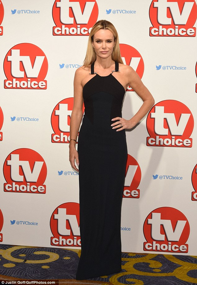 Wow! Amanda Holden went for an all-black look at the star-studded bash on Monday night