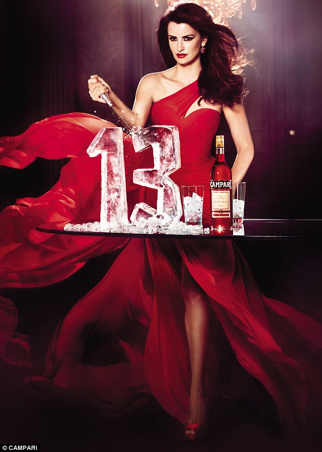 Not unlucky for some: Penelope is the 13th Campari Calendar girl