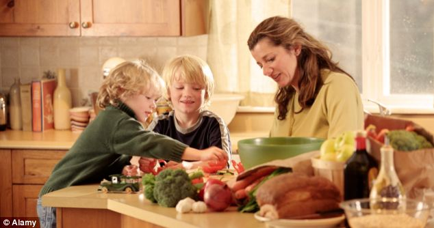 The average mother spends 71 hours on household chores every week, including food shopping and cleaning