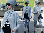 EXCLUSIVE: Anne Hathaway picks up coffee for two after the gym  Pictured: Anne Hathaway Ref: SPL1210594  190116   EXCLUSIVE Picture by: Splash News  Splash News and Pictures Los Angeles: 310-821-2666 New York: 212-619-2666 London: 870-934-2666 photodesk@splashnews.com
