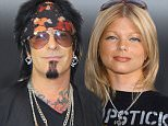 LOS ANGELES, CA - JULY 01:  Musician Nikki Sixx and wife Courtney Bingham attend Courtney Sixx hosts a Charity Shopping event at Topshop on July 1, 2015 in Los Angeles, California.  (Photo by Lilly Lawrence/WireImage)