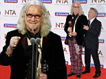 20.01.16 National Television Awards at 02 Billy Connolly - lifetime achievement award with Dustin Hoffman
