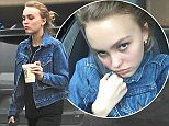 EXCLUSIVE: Lily-Rose Melody Depp seen leaving Whole Foods with a protein shake and her bodygaurd in Los Angeles, CA. The daughter of Johnny Depp and Vanessa Paradis looks comfortable and chic in her attire.   Pictured: Lily-Rose Melody Depp Ref: SPL1211750  190116   EXCLUSIVE Picture by: Aficionado Group  / Splash News  Splash News and Pictures Los Angeles: 310-821-2666 New York: 212-619-2666 London: 870-934-2666 photodesk@splashnews.com