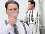 Los Angeles, CA - Ben Affleck  takes a smoke break in his suit and suspenders, in between filming scenes for his new film 'Live by Night' in Los Angeles. \n AKM-GSI    January  19, 2016\nTo License These Photos, Please Contact :\nSteve Ginsburg\n(310) 505-8447\n(323) 423-9397\nsteve@akmgsi.com\nsales@akmgsi.com\nor\nMaria Buda\n(917) 242-1505\nmbuda@akmgsi.com\nginsburgspalyinc@gmail.com