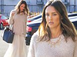 Santa Monica, CA - Jessica Alba was spotted arriving at The Honest Company's office in the afternoon. The savvy businesswoman looked boho chic in an ivory flowing skirt with a blush sweater on top paired with a black leather bag. Alba smiled as she went into the building.  \nAKM-GSI       January 21, 2016\nTo License These Photos, Please Contact :\nSteve Ginsburg\n(310) 505-8447\n(323) 423-9397\nsteve@akmgsi.com\nsales@akmgsi.com\nor\nMaria Buda\n(917) 242-1505\nmbuda@akmgsi.com\nginsburgspalyinc@gmail.com