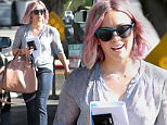 Los Angeles, CA - Hilary Duff rocks her new edgy lavender hair while out shopping. She completes her new new with a sheer light blue top, matching sunglasses, a Givenchy leather tote with matching heels, and blue jeans.\n  \nAKM-GSI       January 21, 2016\nTo License These Photos, Please Contact :\nSteve Ginsburg\n(310) 505-8447\n(323) 423-9397\nsteve@akmgsi.com\nsales@akmgsi.com\nor\nMaria Buda\n(917) 242-1505\nmbuda@akmgsi.com\nginsburgspalyinc@gmail.com