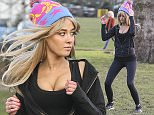 MUST BYLINE: EROTEME.CO.UK Made In Chelsea's Nicola Hughes gets back into her fitness routine after enjoying a sunshine holiday with her on and off again boyfriend Alex Mytton in Marrakech.  The bombshell from south Dublin made sure her best assets were on display as she was spotted jogging in black leggings, a black hoodie, teamed with a colourful and distinctive bobble hat from Scream Editions. EXCLUSIVE   January 22, 2016 Job: 160121L10     London, England EROTEME.CO.UK 44 207 431 1598 Ref: 341629