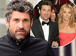 Former Gray's Anatomy star Patrick Dempsey braves the rain as he heads to lunch at Gjelina Restaurant in Venice, Ca....Pictured: Patrick Dempsey..Ref: SPL1203688  060116  ..Picture by: London Entertainment /Splash....Splash News and Pictures..Los Angeles: 310-821-2666..New York: 212-619-2666..London: 870-934-2666..photodesk@splashnews.com..