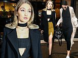 Picture Shows: Gigi Hadid  January 22, 2016    American model and television personality Gigi Hadid is seen leaving the George V Hotel in Paris, France.    The baby-faced beauty showed off her impeccable style in a knee-length black coat with a fur collar, a mustard coloured skirt and black ankle boots.    Non Exclusive  UK RIGHTS ONLY    Pictures by : FameFlynet UK © 2016  Tel : +44 (0)20 3551 5049  Email : info@fameflynet.uk.com