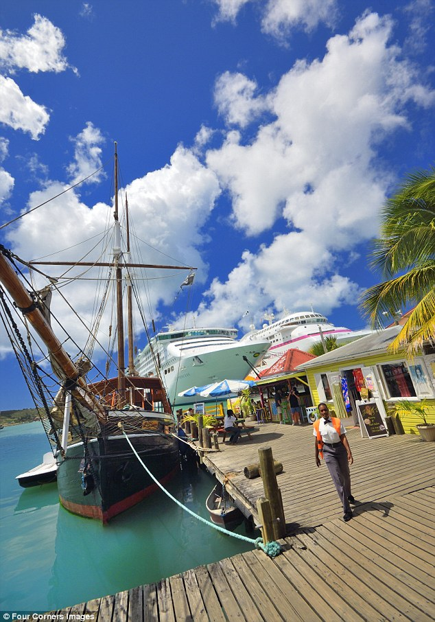 A bolt from the blue: St John's, the capital of Antigua, is a pretty place for a day trip beyond the resorts